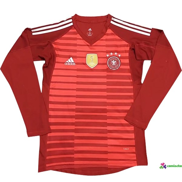 Camiseta ML Portero Alemania 2018 Rojo