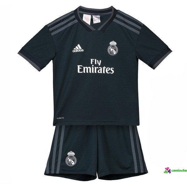 Camiseta 2ª Kit Niños Real Madrid 2018 2019 Negro