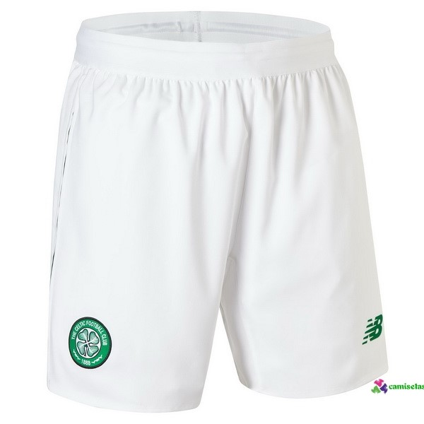 Pantalones 1ª Kit Celtic 2018 2019 Blanco