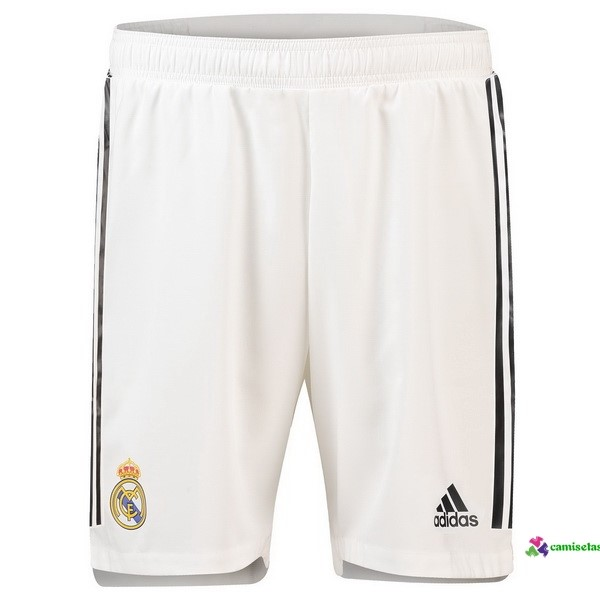 Pantalones 1ª Kit Real Madrid 2018 2019 Blanco