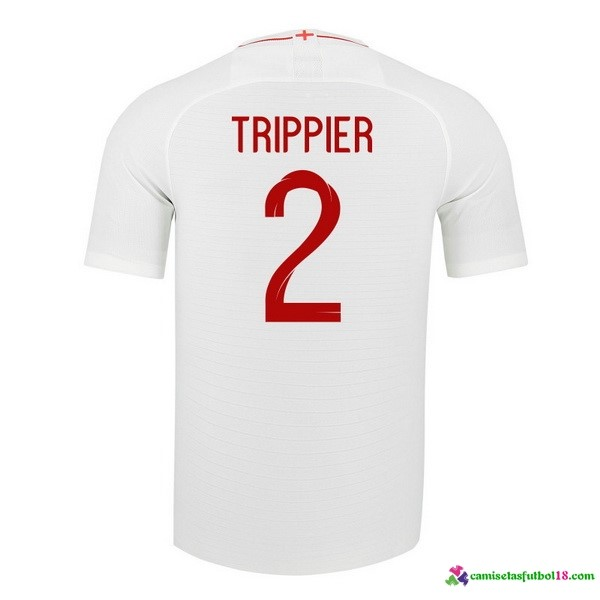Trippier Camiseta 1ª Kit Inglaterra 2018 Blanco