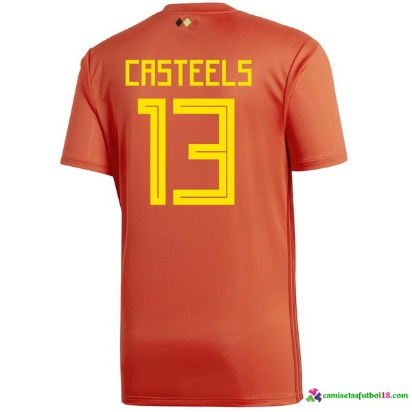 Casteels Camiseta 1ª Kit Belgica 2018 Rojo