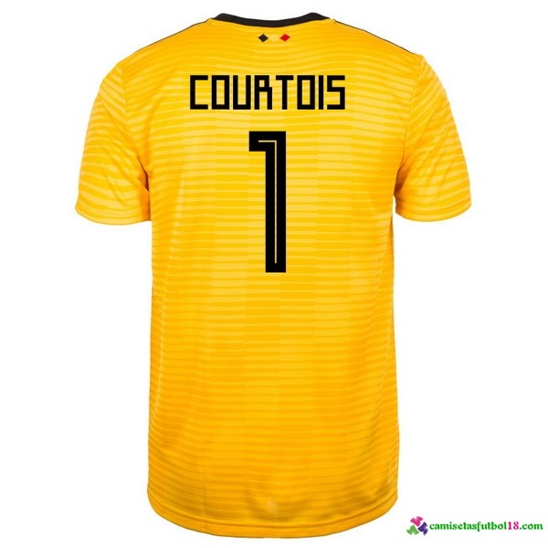Courtois Camiseta 2ª Kit Belgica 2018 Amarillo