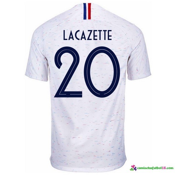 Lacazette Camiseta 2ª Kit Francia 2018 Blanco