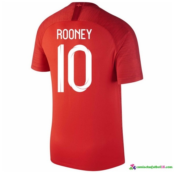 Rooney Camiseta 2ª Kit Inglaterra 2018 Rojo