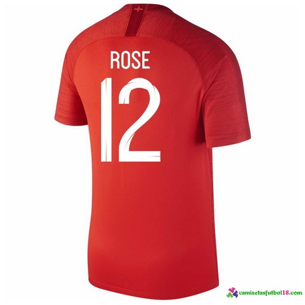 Rose Camiseta 2ª Kit Inglaterra 2018 Rojo