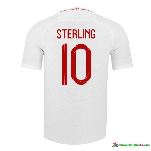 Sterling Camiseta 1ª Kit Inglaterra 2018 Blanco