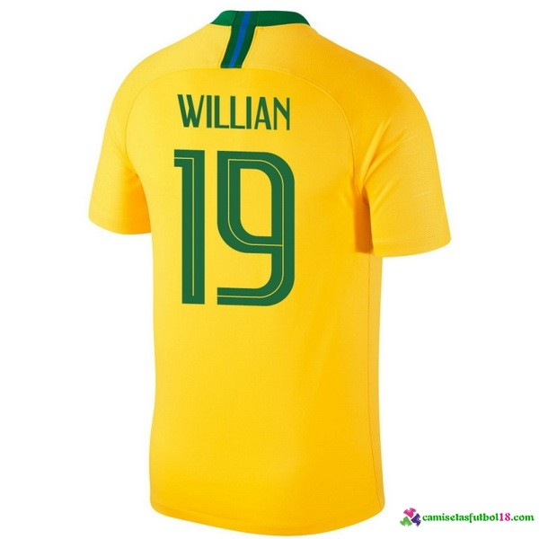 Willian Camiseta 1ª Kit Brasil 2018 Amarillo