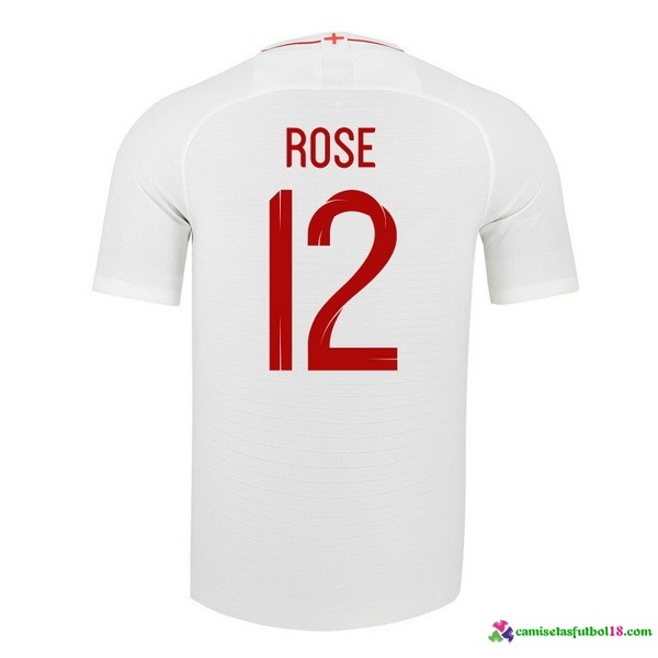 Rose Camiseta 1ª Kit Inglaterra 2018 Blanco