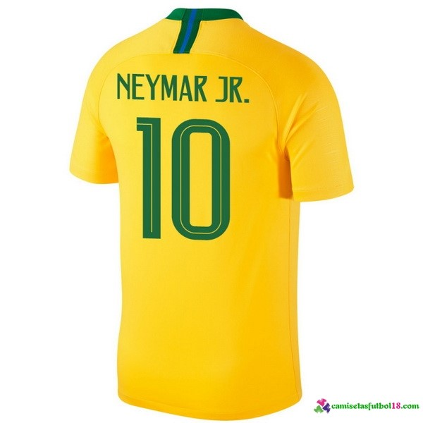 Neymar JR. Camiseta 1ª Kit Brasil 2018 Amarillo