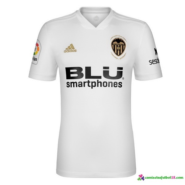 Camiseta 1ª Kit Valencia 2018 2019 Blanco