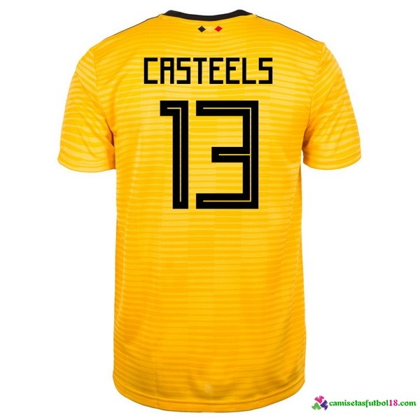 Casteels Camiseta 2ª Kit Belgica 2018 Amarillo