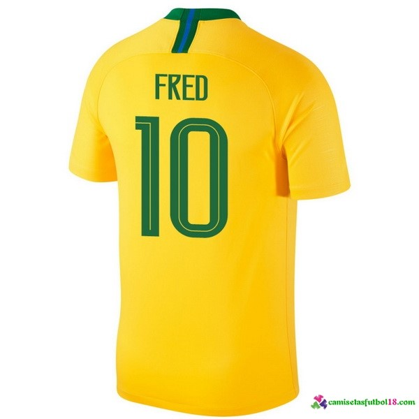 Fred Camiseta 1ª Kit Brasil 2018 Amarillo