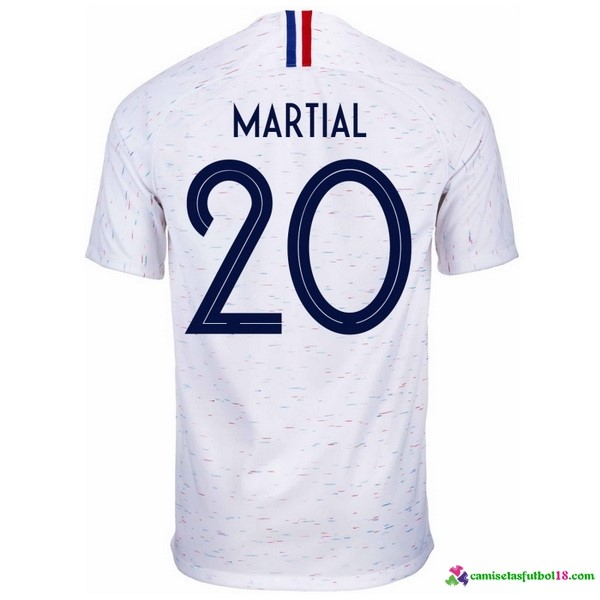 Martial Camiseta 2ª Kit Francia 2018 Blanco