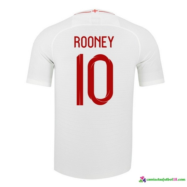 Rooney Camiseta 1ª Kit Inglaterra 2018 Blanco