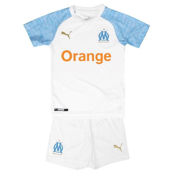 Camiseta 1ª Kit Marsella Niños 2018/19 Blanco