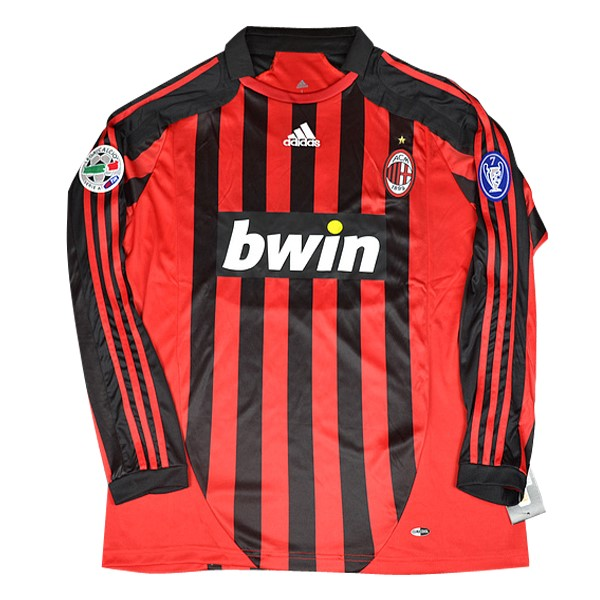 Camiseta 1ª Kit AC Milan ML Retro 2006 2007 Rojo