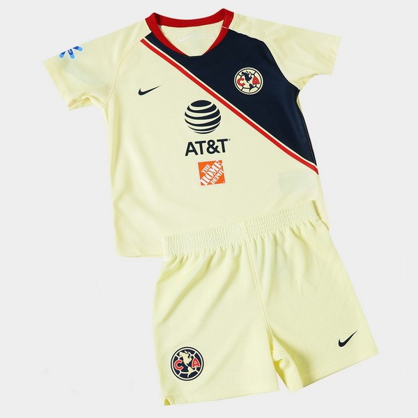 Camiseta 1ª Kit Club América Niños 2018 2019 Amarillo