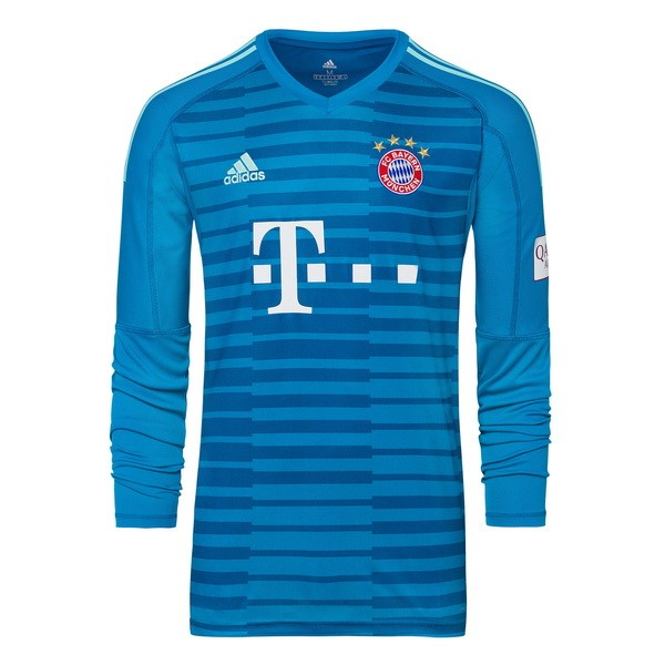 Camiseta 2ª Kit Bayern Munich ML Portero 2018 2019 Azul