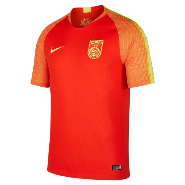 Camiseta 1ª Kit China 2018 Rojo