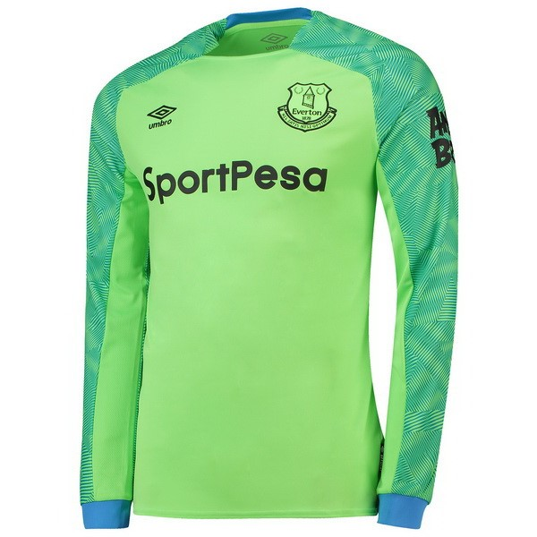 Camiseta 1ª Kit Everton ML Portero 2018 2019 Verde