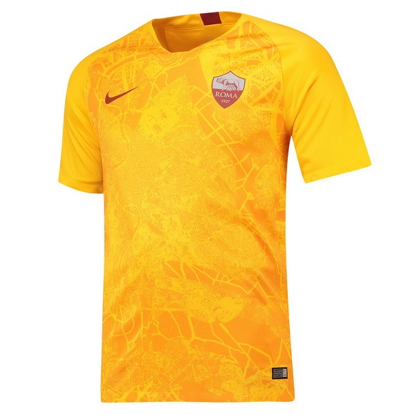 Camiseta As Roma 3ª Kit 2018 2019 Amarillo