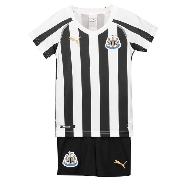 Camiseta Newcastle United 1ª Kit Niños 2018 2019 Blanco Negro