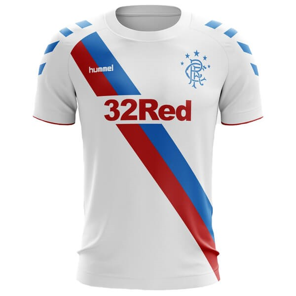Camiseta Rangers 2ª Kit 2018 2019 Blanco