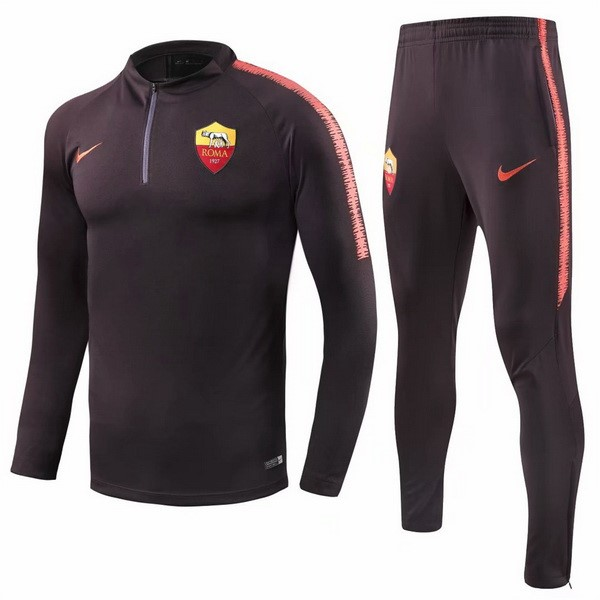 Chandal AS Roma 2018 2019 Naranja Negro