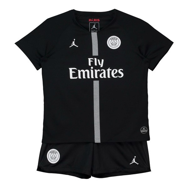 JORDAN Camiseta Paris Saint Germain 3ª Kit 1ª Niños 2018 2019 Negro