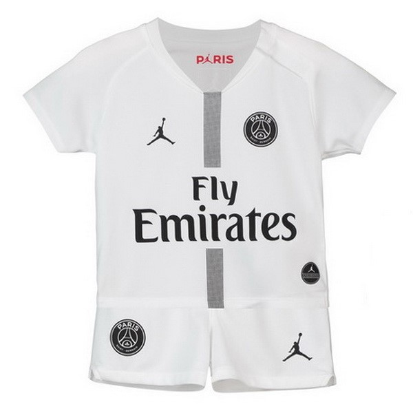 JORDAN Camiseta Paris Saint Germain 3ª Kit 2ª Niños 2018 2019 Blanco