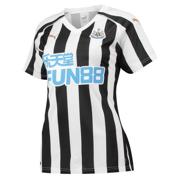 Camiseta Newcastle United 1ª Kit Mujer 2018 2019 Blanco Negro