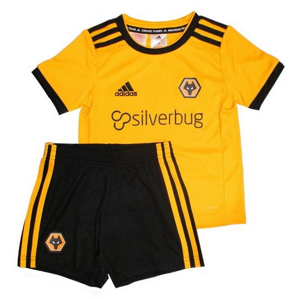 Camiseta Wolves 1ª Kit Niños 2018 2019 Amarillo