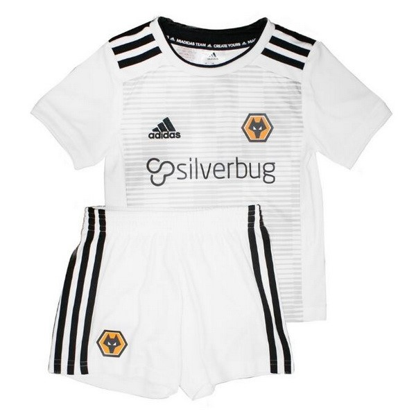 Camiseta Wolves 2ª Kit Niños 2018 2019 Blanco