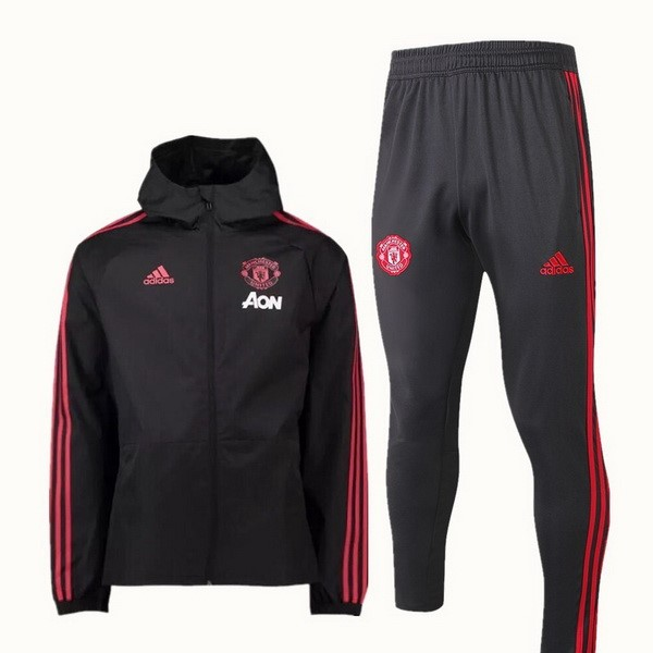 Rompevientos Manchester United Conjunto Completo 2018 2019 Negro