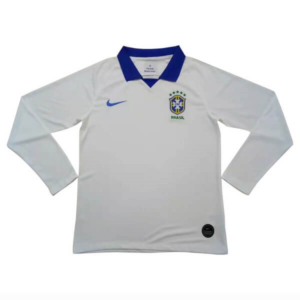 Camiseta Brasil 2ª Kit ML 2019 Blanco