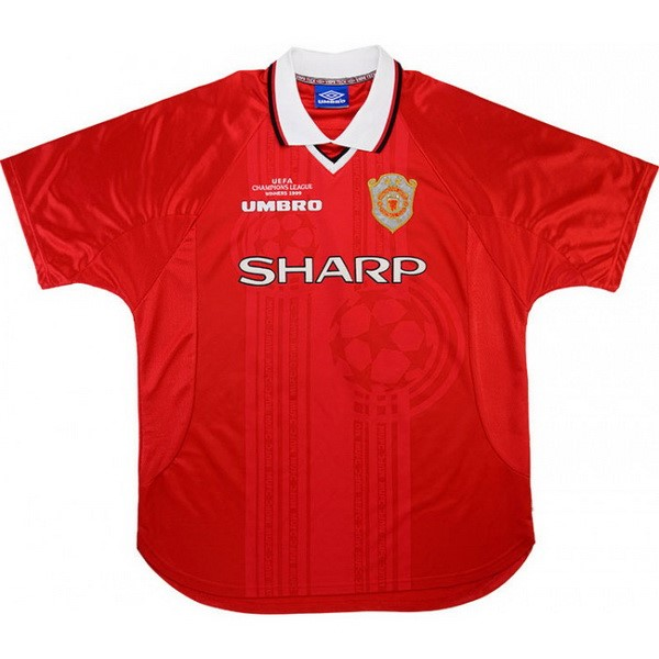 Camiseta Manchester United 1ª Kit Retro 1999 2000 Rojo