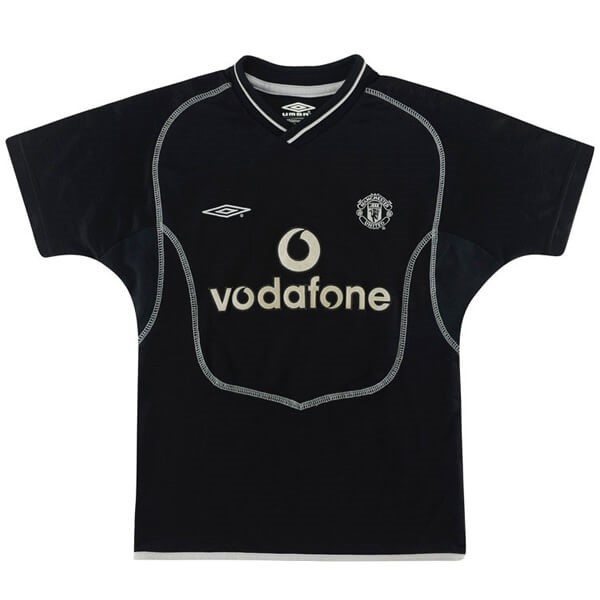 Camiseta Manchester United 2ª Kit Retro 2000 2002 Negro