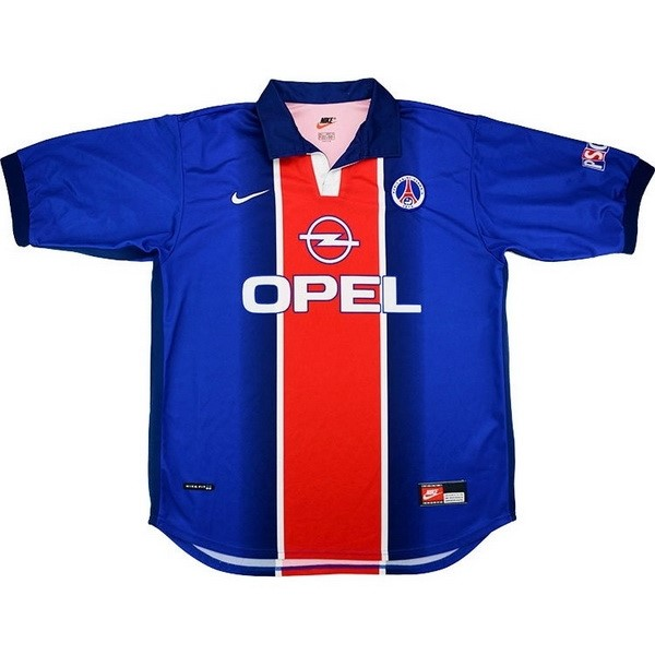 Camiseta Paris Saint Germain 1ª Kit Retro 1998 1999 Azul