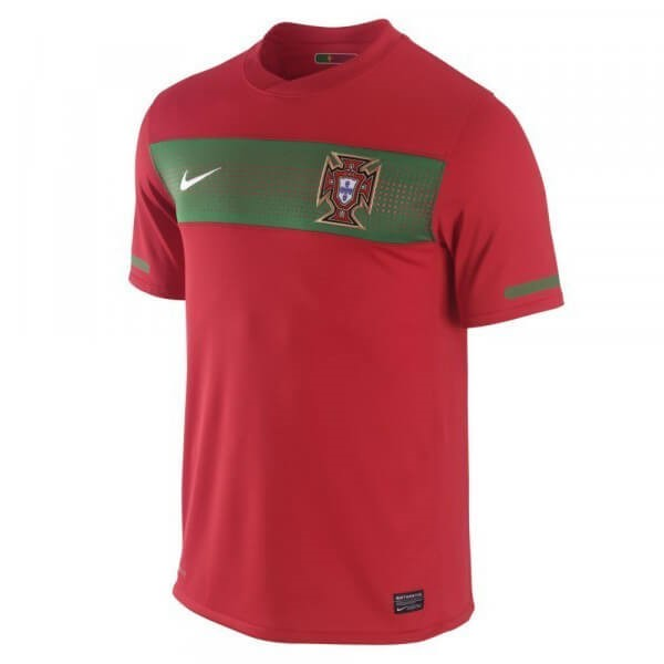 Camiseta Portugal 1ª Kit Retro 1990 Rojo