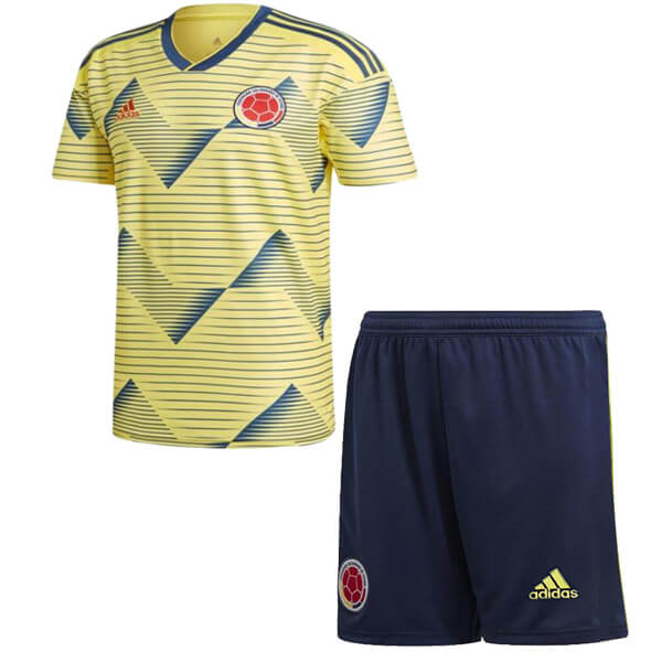 Camiseta Colombia 1ª Kit Niño 2019 Amarillo