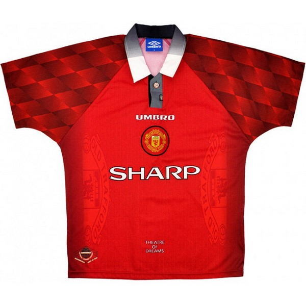 Camiseta Manchester United 1ª Kit Retro 1996 1997 Rojo