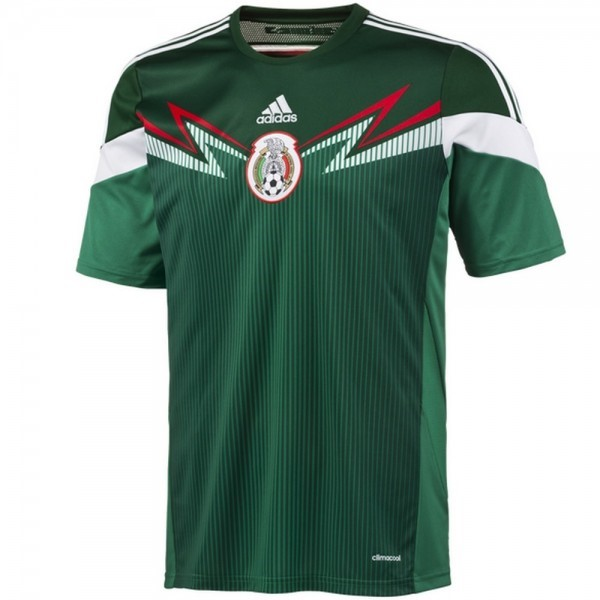 Camiseta Mexico 1ª Kit Retro 2014 Verde