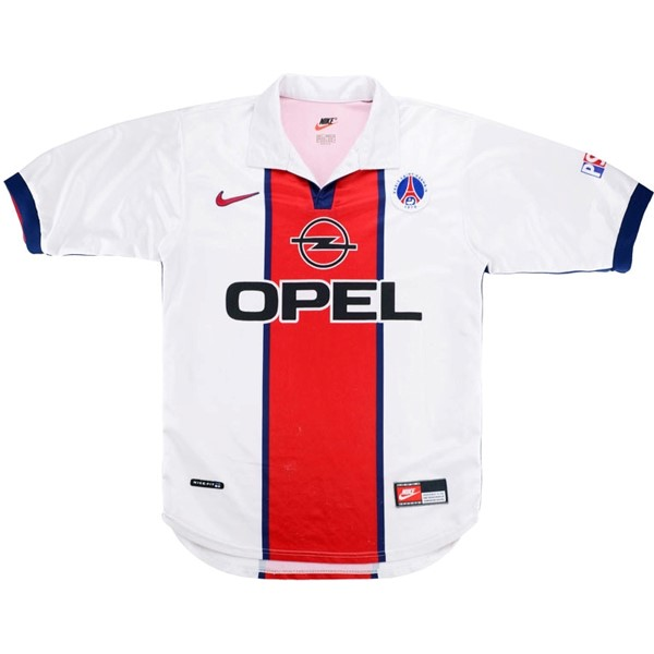 Camiseta Paris Saint Germain 2ª Kit Retro 1998 1999 Blanco