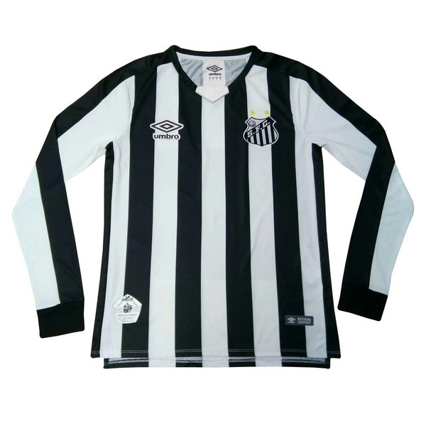 Camiseta Santos 2ª Kit ML 2019 2020 Negro Blanco