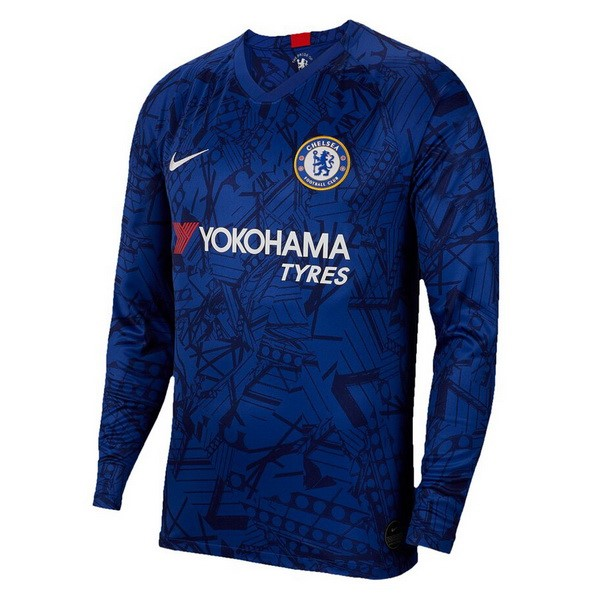 Camiseta Chelsea 1ª Kit ML 2019 2020 Azul