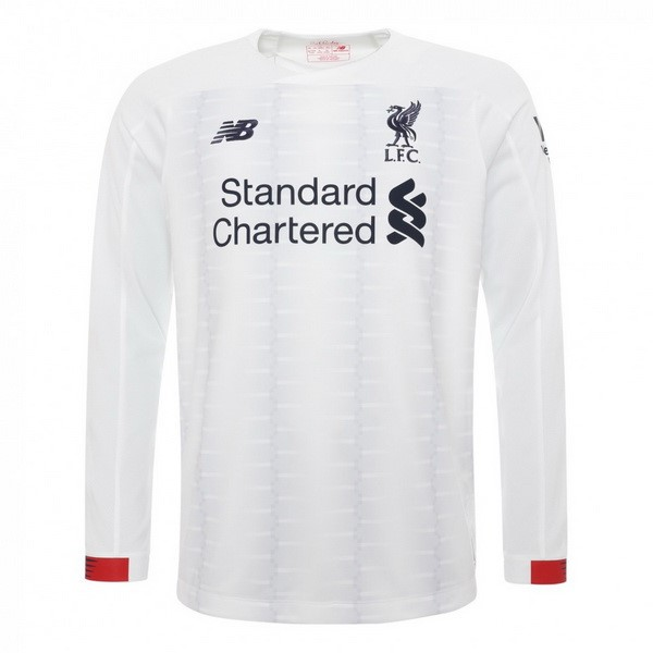 Camiseta Liverpool 2ª Kit ML 2019 2020 Blanco
