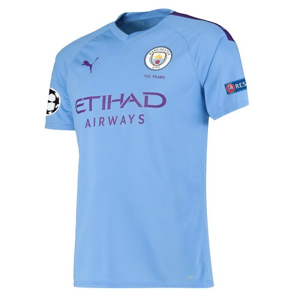 Camiseta Manchester City 1ª Kit 2019 2020 Azul
