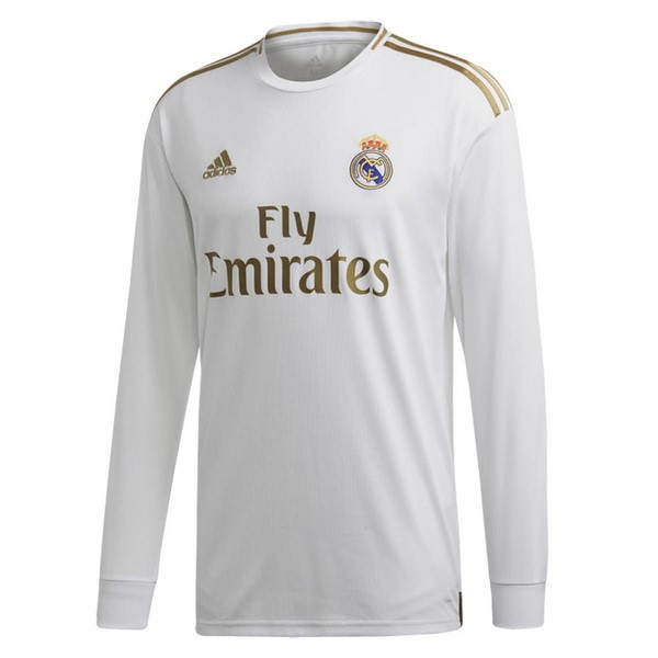 Camiseta Real Madrid 1ª Kit ML 2019 2020 Blanco