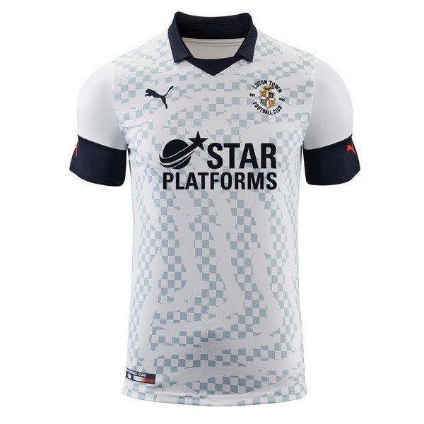 Camiseta Luton Town 2ª Kit 2019 2020 Blanco